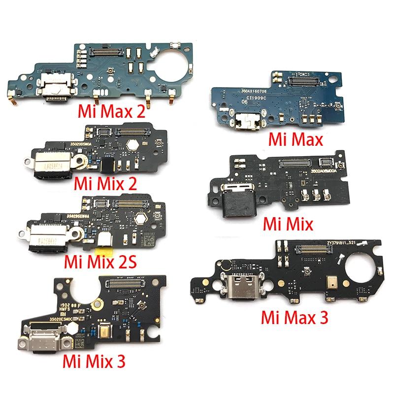 New USB Charge Port Jack Dock Connector Charging Board Flex Cable For Xiaomi Mi Max Mix 2 3 Max2 Max3 Mix2 Mix3