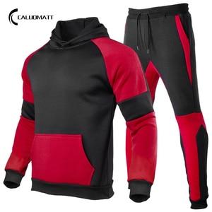 Fashion Men Hooded Sweatshirts Sportswear Set 2021 Spring Autumn Mens Tracksuit Hoodies Pants 2 Pieces Set Streetwear Sportsuit