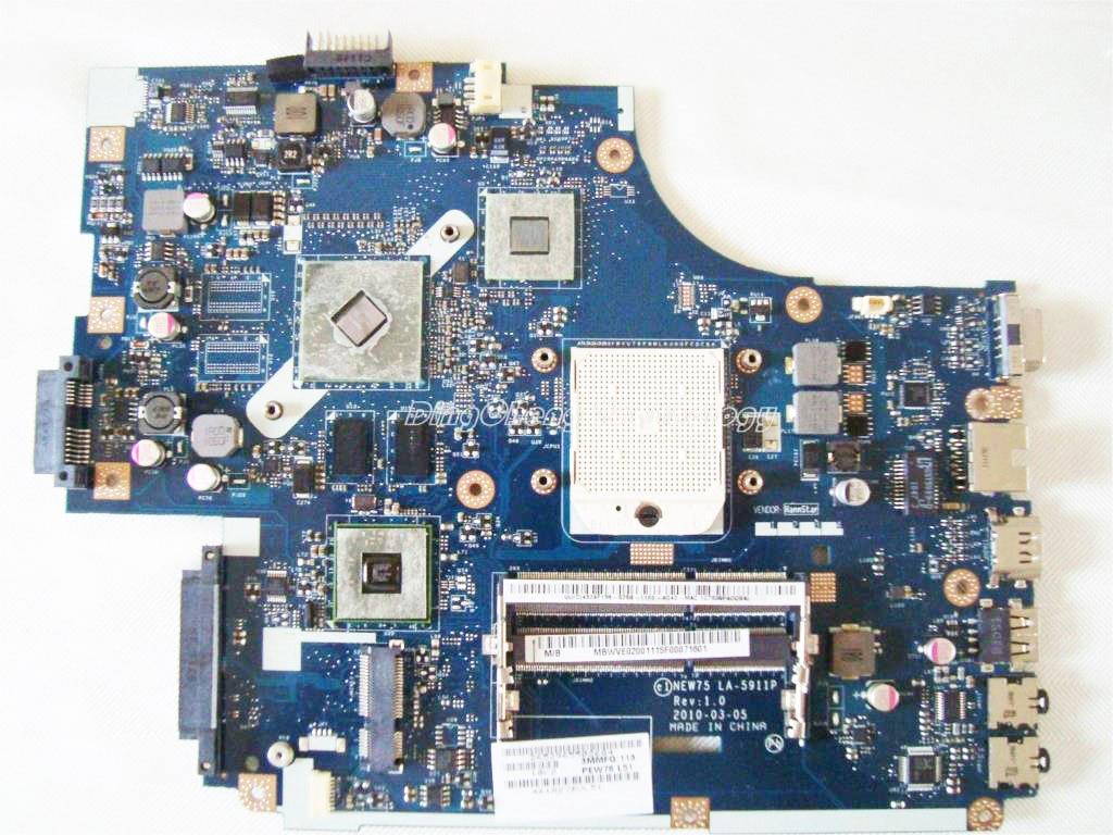 Laptop Motherboard For ACER Aspire 5552G 5551G NEW75 LA-5911P MB.WVE02.001 MBWM602001 DDR3 HD6470M GPU