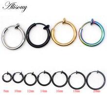 Alisouy 1pc Clip On Earrings For Women Men Fake