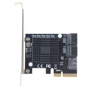 Image 2 - PCI Express contrôleur dextension 3.0x4 à 5 ports SATA III, 6Gbps, carte dextension, multiport pour HDD SSD, avec câbles de données 5x