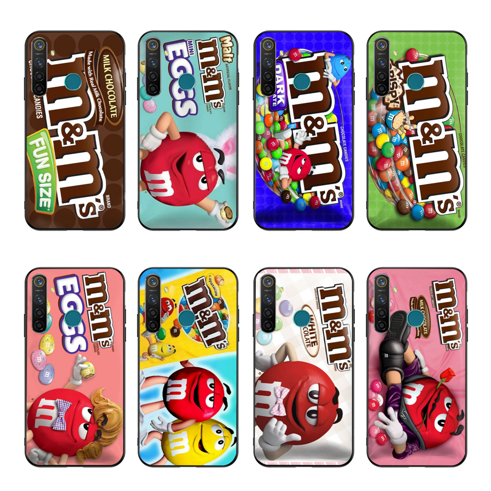 NBDRUICAI M&Ms Chocolate Soft Silicone <font><b>TPU</b></font> Phone Cover For <font><b>OPPO</b></font> Realme 5 3 2 <font><b>Pro</b></font> F7 F9 <font><b>F11</b></font> F3 RENO Cover image