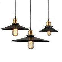 Lámparas colgantes altillo Industrial Vintage lámpara colgante creativa Edison Led Bombilla de hierro forjado de una sola cabeza luminaria de suspensión Retro