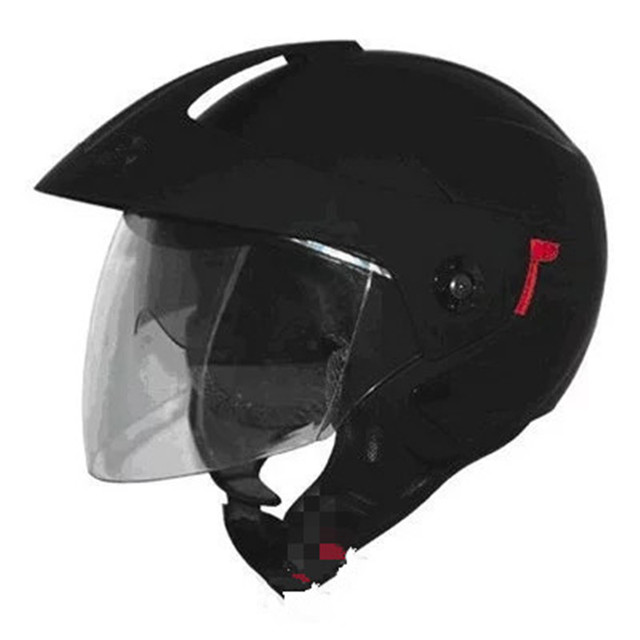 Free shipping hot sell cheap and good 3/4 open Face  Motorcycle Helmet DOT Approved Dual Visor Motocross Black L