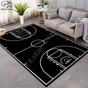 Carpet 3D Basketball Larger Mat Flannel Velvet Memory soft Rug Play Game Mats Baby Craming Bed Area Rugs Parlor Decor 013(China)