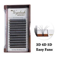 Viplash 5D Fans быстрое цветение ресниц для наращивания, легкие накладные ресницы 5D цветы, натуральные норковые ресницы, ресницы из норки