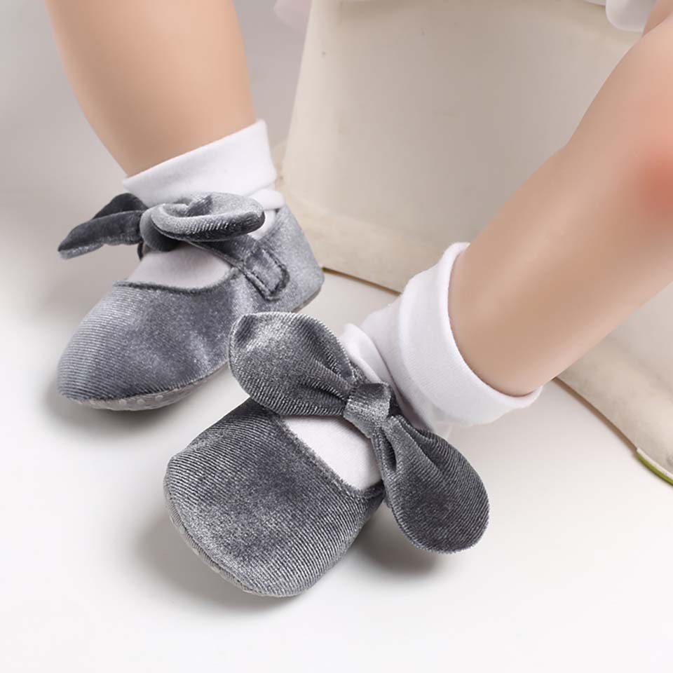 Baby Girl Shoes Newborn Baby Boys Soft Sole Crib Shoes Hot Fashion Mary Jane Sweet Bow Knot First Walkers Cute Ballet Dance Shoe