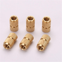 IBB-M2.5 Brass Insert Nut Blind Molded-in Threaded Knukles Nuts Insertos Knurling Copper Rivet Rivnut Ecrou Inserti Tuerca PEM
