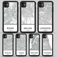 London Country Sketch City Map phone case For iphone 11 Pro max X Xs Max Xr 8 7 6 6s 7 Plus SE 2020 soft back black Cover