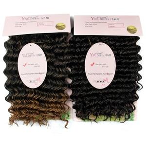 Image 3 - Häkeln Haar Tief Wellig Niedrigen Temperatur Faser 10 Zoll 3 strand/pack Kann Re modell Synthetische Haar zöpfe Häkeln Briads