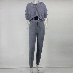 Image 5 - PFFLOOK Conjunto de 2 piezas formado por Jersey y pantalón corto, conjunto de dos piezas, otoño 2019