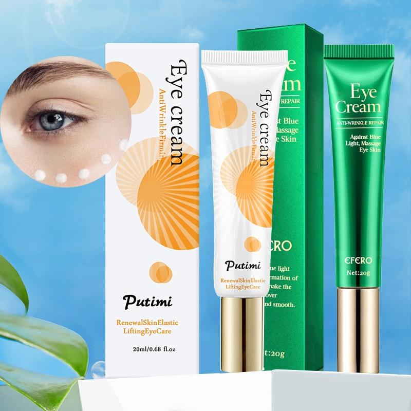Anti-Oxidation Brighten Face Cream Shrink Pores Hyaluronic Acid Moisturizer Cream Anti Aging Eye Cream Dark Circles Eye Massager 12