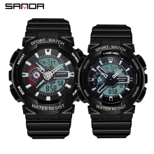 SANDA Military Men's Ms Watches Top Brand Couple Waterproof Sport Watch