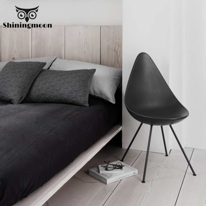 Nordic Minimalism Black Chair Modern Reading Dressing Chair Creative Coffee Shop Decoration Plastic Chair Dining Room Chairs