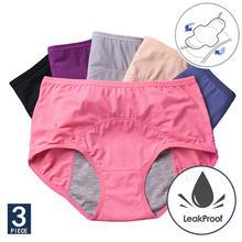 3 шт/компл женские менструальные трусики сексуальные брюки герметичное