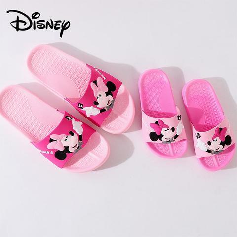 original disney minne antiderrapante chinelos para os pais sapatos de casa das criancas bonito dos