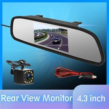 """4.3 """"samochodowy monitor z widokiem z kamery cofania kamera tylna TFT-CCD wideo Auto zestaw do parkowania 4 widzenie nocne led cofania samochód stylizacji"""