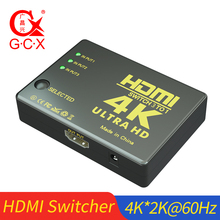 цена на HDMI Switcher 4K 3x1 3 Input 1 Output With IR Remote Controller For XBOX 360 PS4 Smart Android HDTV 5 in 1 out HDMI Switch