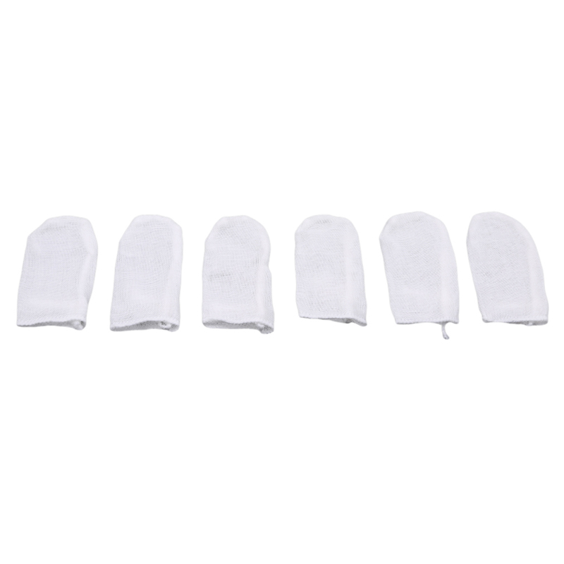 Oral Brush Baby Oral Cleaning Brush Gauze Finger Brush New Hot Sale 1 Set Baby Mouth Wipes Cleaning Gauze Tooth Baby Teeth Care image