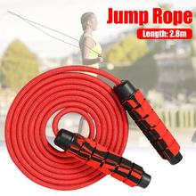 2.8M Adjustable Jump Ropes Sports Fitness Counting Skip Rope Sponge Handle Skipping Wire Fitnesss Equipment 1pc jump skipping ropes professional sponge skipping aerobics fitness adjustable speed counting skipping home fitness equipment