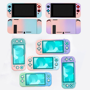Matte PC Hard Front Back Cover Crystal Shell For Nintendo Switch NS Lite Console Joy-Con Controller Protective Sticker Skin Case
