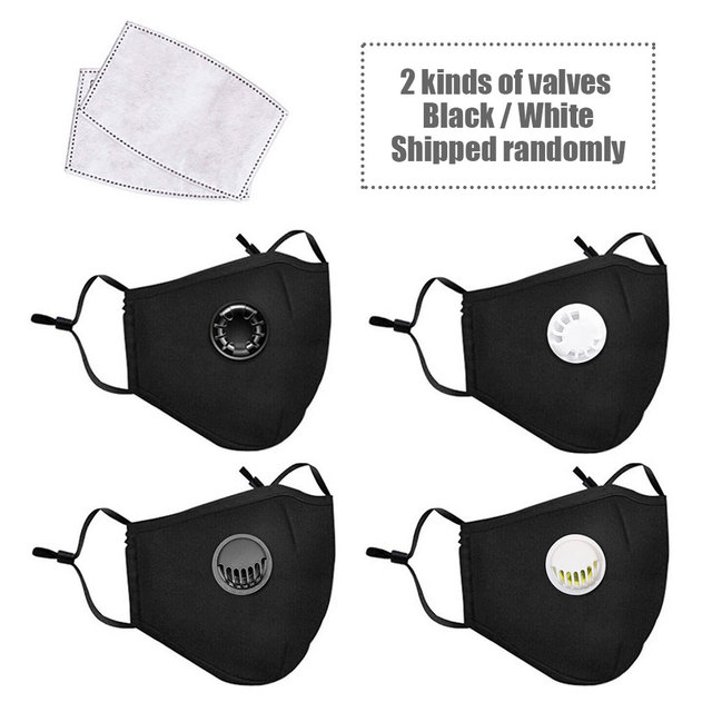 Mouth Mask Respirator Washable Reusable Masks Cotton Unisex Mouth Masks riding sun filter Activated carbon 3