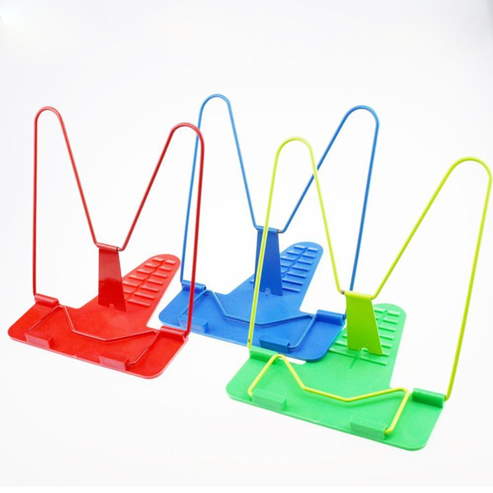 1Pc Portable Bookends Shelf Holder Foldable Adjustable Bookend Stand Reading Book Stand Document Holder Base Reading Book Holder