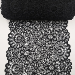 22cm Black White Elastic Lace Fabric French Hollow Underwear DIY Crafts Sewing Suppies Decoration Accessories For Garments 1Yard