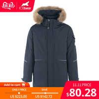 ICEbear 2019 Nuovo Cappotto degli uomini di Inverno Con Cappuccio del Rivestimento di Alta Qualità degli uomini di Marca di Abbigliamento MWD19805I