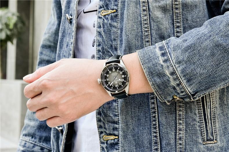 homens de luxo relógio automático à prova