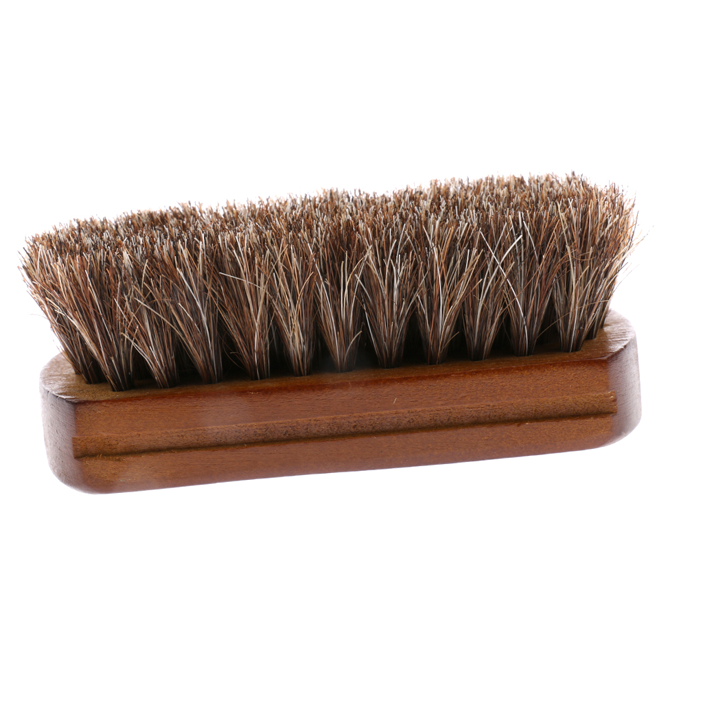 Horse Hair Shoes Boot Polishing Buffing Cleaning Brush For Shoe Care