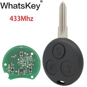 WhatsKey 3 кнопки 433 Мгц дистанционный Автомобильный ключ для Benz для Mercedes Smart Fortwo 450 Forfour City Roadster Cabrio Coupe Uncut Blade