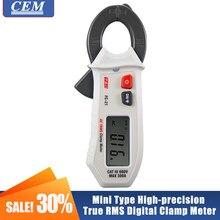 Medidor de braçadeira digital de alta precisão verdadeiro rms amperímetro cem FC-21 display digital ac mini-tipo ncv backlight automático