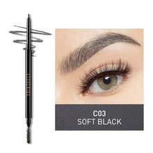 Waterproof Rotating Automatic Eyebrow Pencil Double-Headed Eyebrow Pencil Cosmetics Makeup Tint With Brush Tools недорого