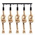 E27 ретро три головы пеньковая веревка подвесной светильник держатель лампы подвесной светильник для страны винтажный промышленный стиль д...