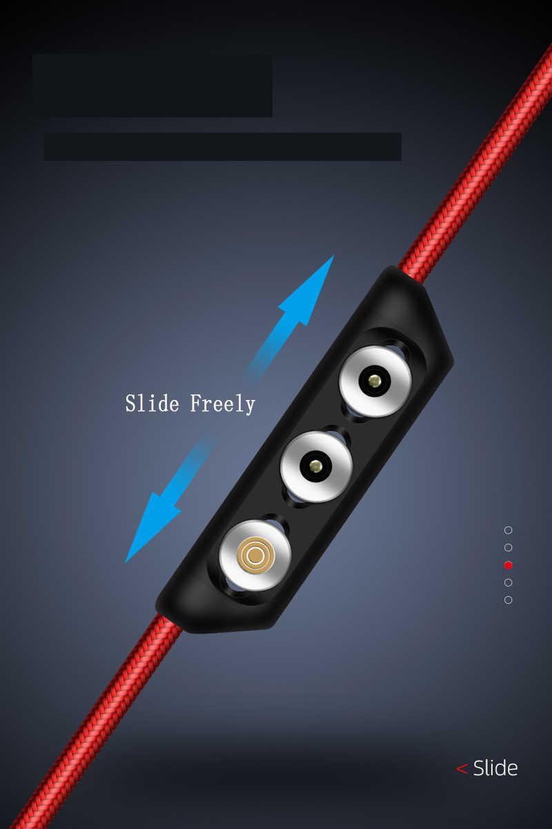 كابل مغناطيسي التوصيل صندوق نوع C المصغّر USB C 8 دبوس محول الشحن السريع الهاتف مايكرو نوع C المغناطيس شاحن الحبل المقابس
