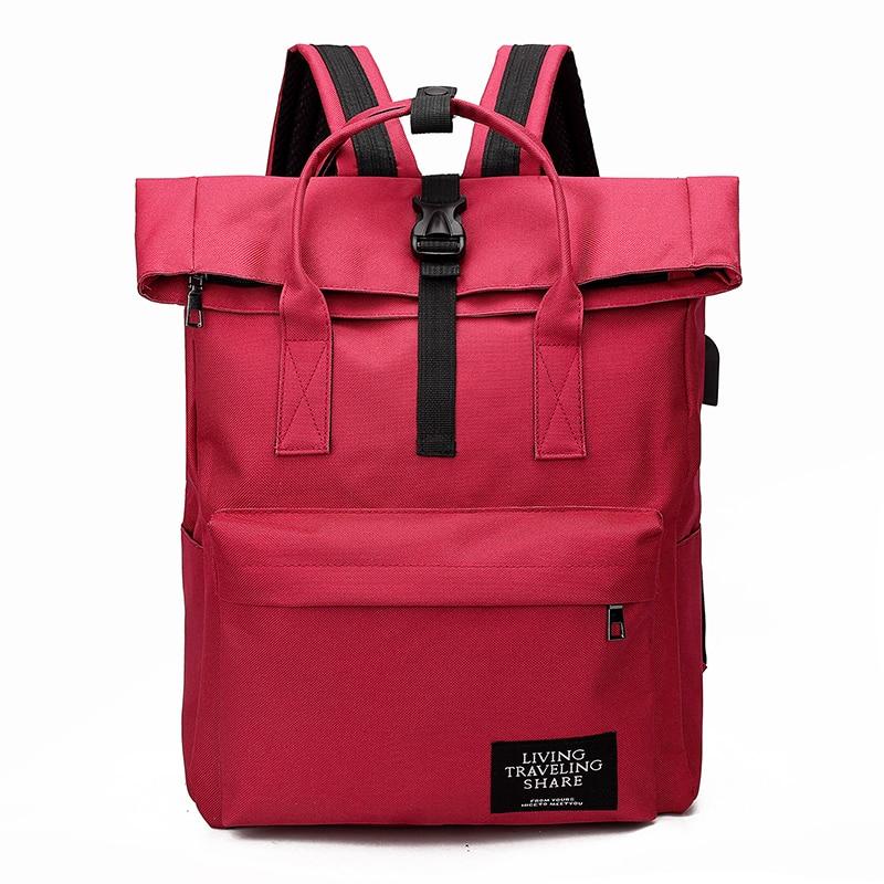 H47d5924137fd4c1ca16b87d093c0ae2eE Women External USB Charge Backpack Canvas Rucksack Male Mochila Escolar Girls Laptop Shoulder School Bags Backpack for teens