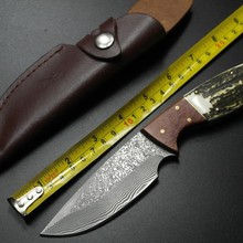 Hand Tools, Camping outdoor survival knife, Damascus steel knife, Gift Knife for Collection