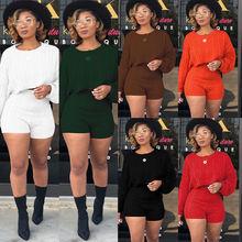 Повседневный пуловер с круглым вырезом и рукавами; Комплект
