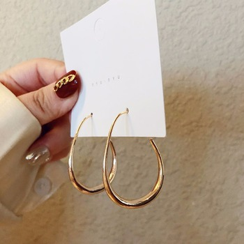 New Fashion Round Dangle Korean Drop Earrings for Women Geometric Round Heart Gold Earring 2020 Trend.jpg 350x350 - New Fashion Round Dangle Korean Drop Earrings for Women Geometric Round Heart Gold Earring 2020 Trend Wedding Jewelry