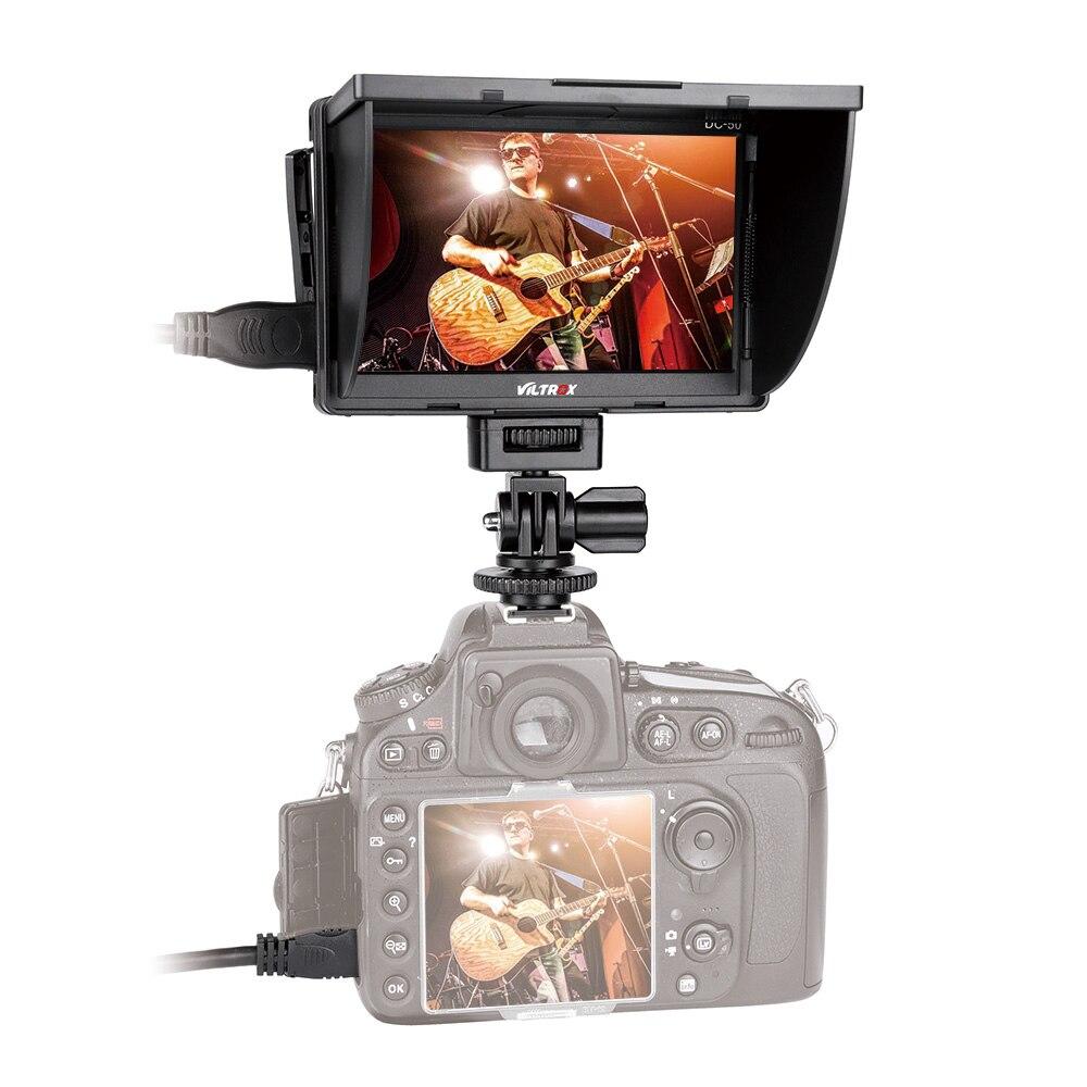 VILTROX DC-50 HD Clip-on LCD moniteur Portable large vue moniteur pour Canon Nikon Sony DSLR caméra DV HD moniteur