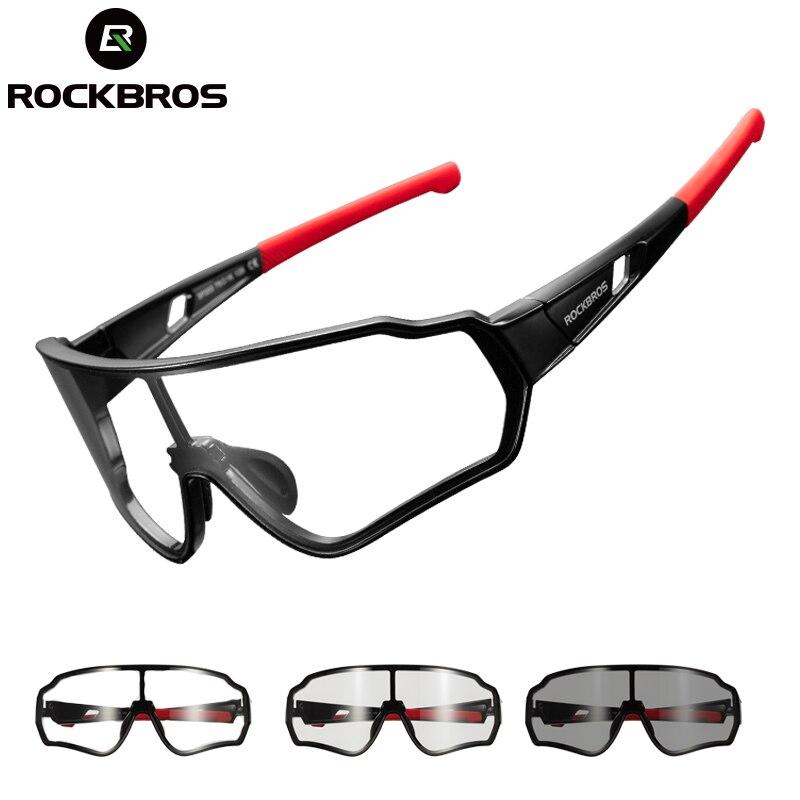 US $13.99 60% OFF|ROCKBROS polaryzacyjne fotochromowe okulary rowerowe okulary rowerowe sportowy rower górski okulary przeciwsłoneczne na rower gogle