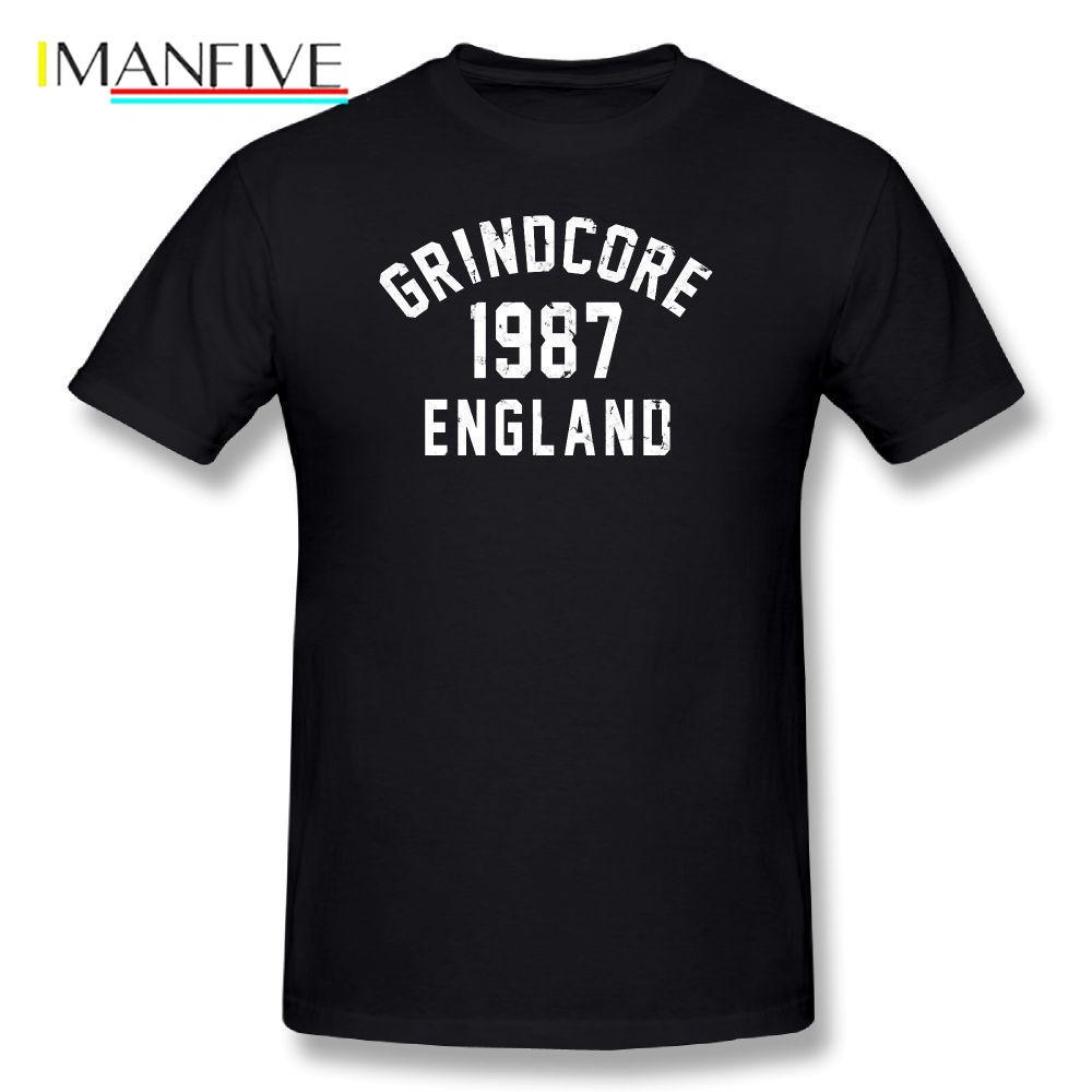 Carcass T-Shirt Men Letter Print Grindcore Cute T Shirt Funny T-Shirts Basic Plus Size 5XL  Summer Men's Music Tee Shirt 2019
