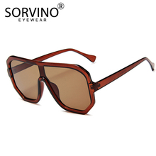 SORVINO Vintage Shades For Women Luxury Visor Sunglasses Men 2020 Oversized Futu