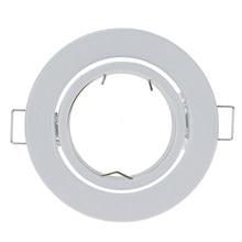 Quadro de alumínio de montagem de superfície gu10 redondo branco para luminárias led downlight mr16 montagem montagem montagem luzes do ponto de teto quadro