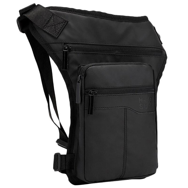 Motorcycle Hip Belt Waist Fanny Pack Riding Travel Shoulder Messenger Cross Body Bags Oxford Cloth Men Thigh Drop Leg Bag Black