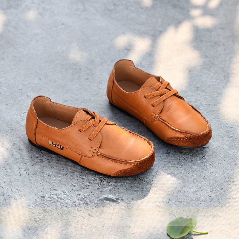 High-grade Cowhide Children Loafers Shoes Genuine Leather Boys School Tods Shoes Fashion Kids Casual Shoes