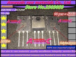 Image 1 - Aoweziic 2019 + 10 قطع = 5 زوج 100% جديد المستوردة الأصلي 2SA1943 2SC5200 A1943 C5200 TO 3P عالية الطاقة الصوت مكبر كهربائي أنبوب