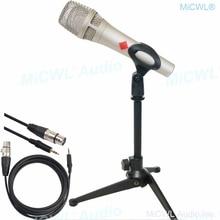 KMS105 microfono a condensatore professionale 48V Phantom Power Metal palmare con cavo XLR a 3.5mm supporto Karaoke Sing Chat Mic