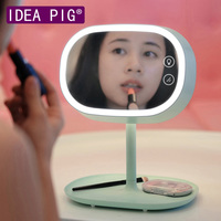 Newest Lady Makeup Mirrors Cute LED Light Table Lamp For Woman Beauty Makeup Christmas Wedding Gift Home Decoration Accessories